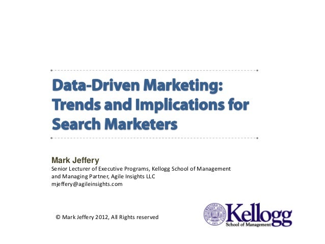 Mark Jeffery            Senior Lecturer of Executive Programs, Kellogg School of Management            and Managing Partne...