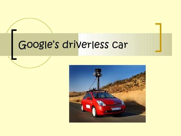 Mªjesús vizcaigana morell  google's driverless car