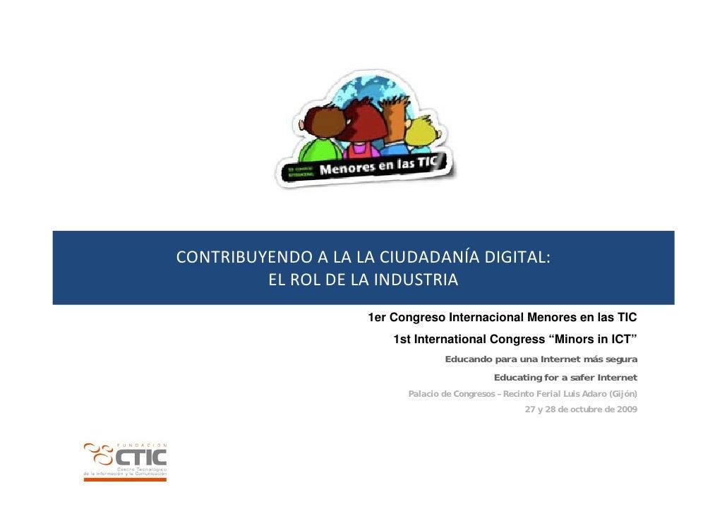 Contribuyendo a la ciudadanía digital: el rol de la industria