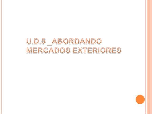AGENTES Agenda U.D.5 DISTRIBUIDORES SELECCIÓN DE LA RED DE VENTAS EXTERIOR