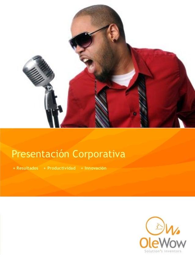 Presentación Corporativa + Resultados + Productividad + Innovación