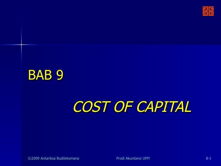 Mk09 cost of capital