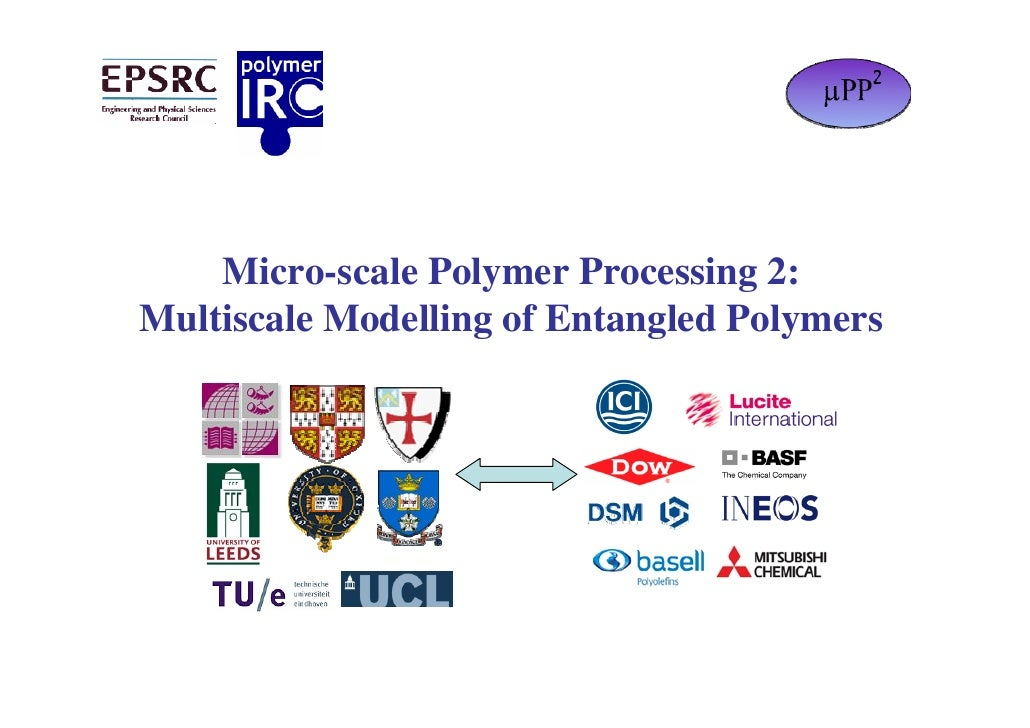 Micro-scale Polymer Processing 2: Multiscale Modelling of Entangled Polymers