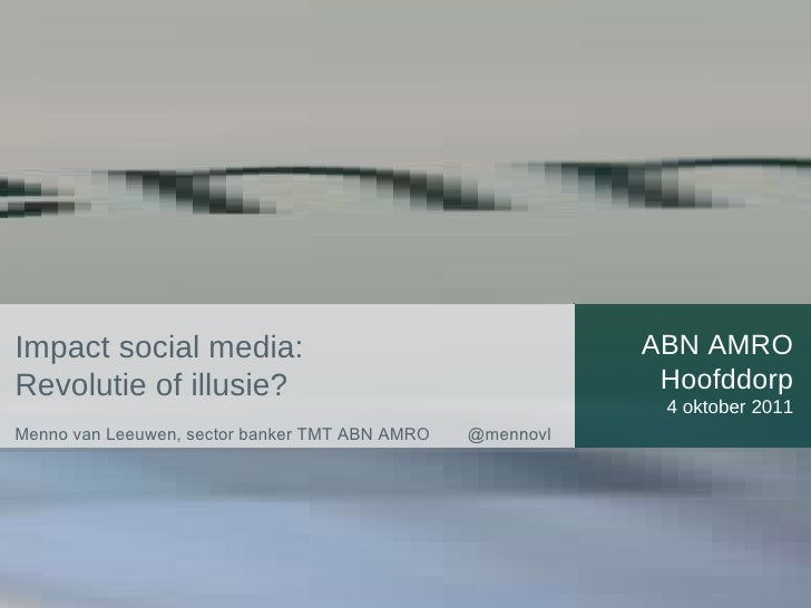 Social Media Impact, door ABN AMRO