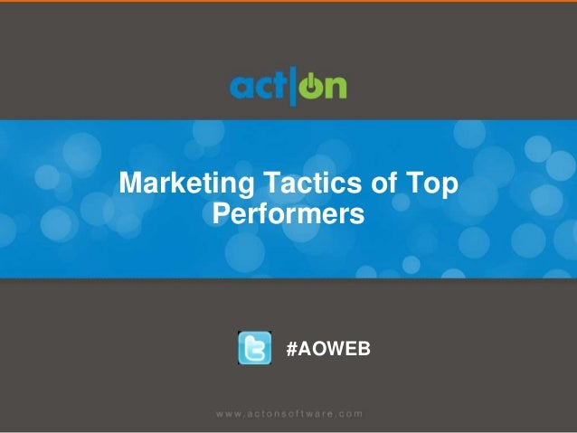 Marketing Tactics of Top Performers
