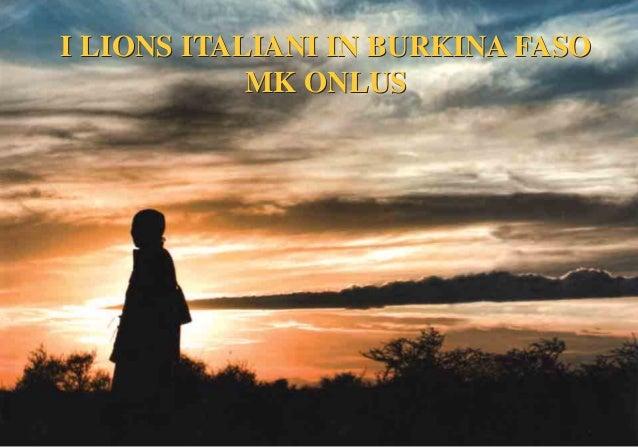 Mk Onlus Burkina Faso
