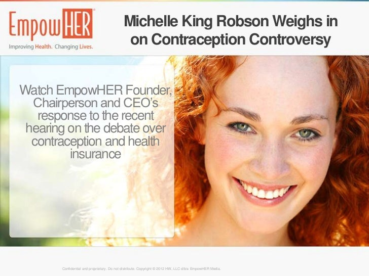 Michelle King Robson Weighs in                                            on Contraception ControversyWatch EmpowHER Found...