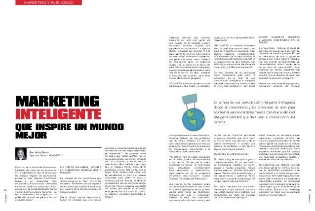 Marketing Inteligente que inspire un mundo mejor