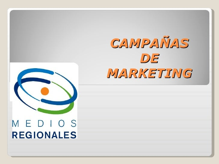 CAMPAÑAS DE MARKETING