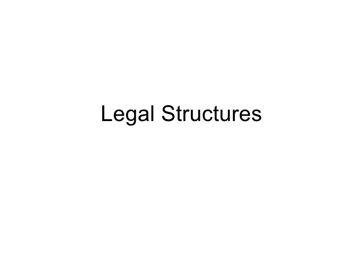 (Some) Legal Structures for achieving social outcomes