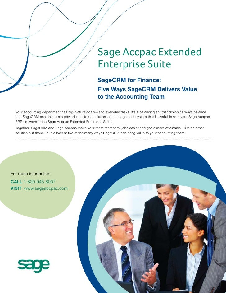 Sage Accpac Extended                                                    Enterprise Suite                                  ...