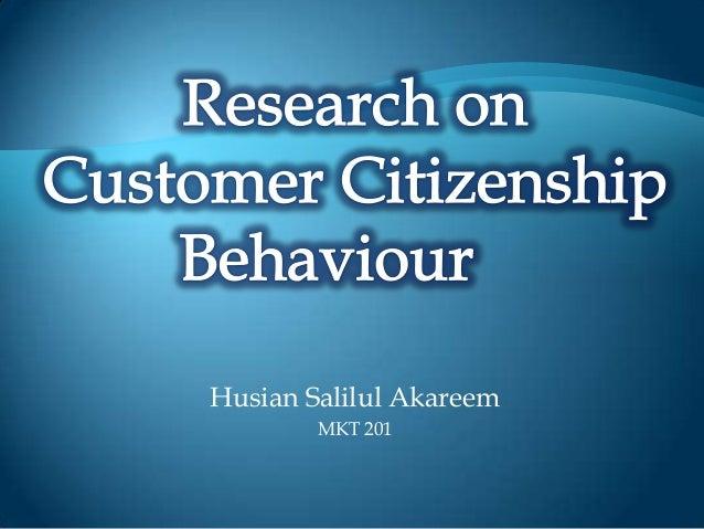 MKT201--term paper--Research on Customer Citizenship Behaviour