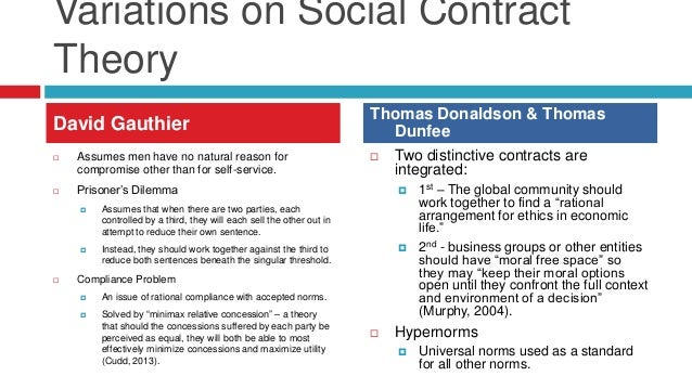 the social contract theory 2 essay The classic form of social contract theory suggests that there is a stateless society from which individual's wish to escape by entering into a social contract the social contract obliges citizens to respect and obey the state, in exchange for stability and security that only a system of political rule can provide.