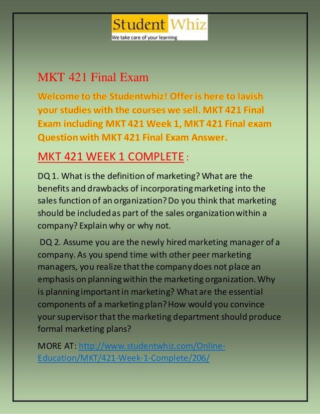 mkt 421 weekly reflection week 2