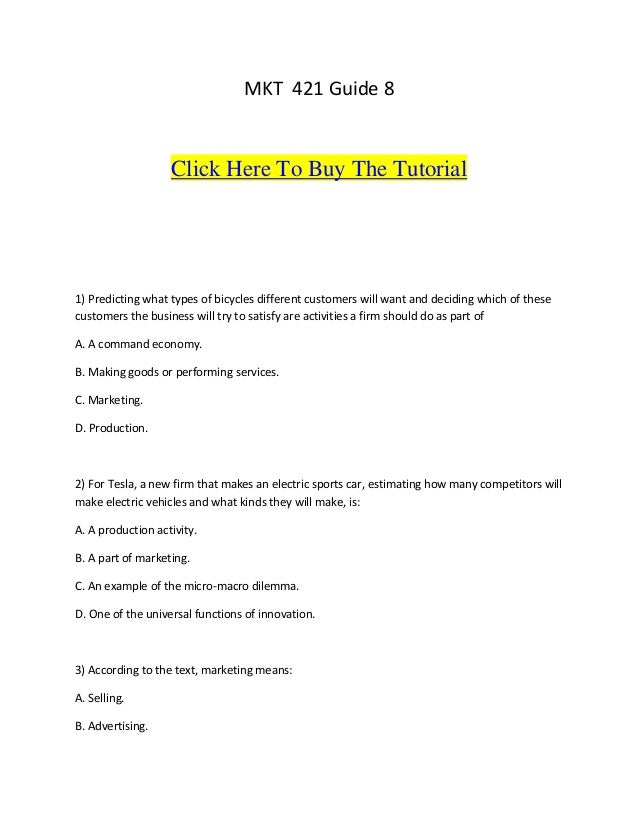 MKT 421 Guide 8                   Click Here To Buy The Tutorial1) Predicting what types of bicycles different customers w...