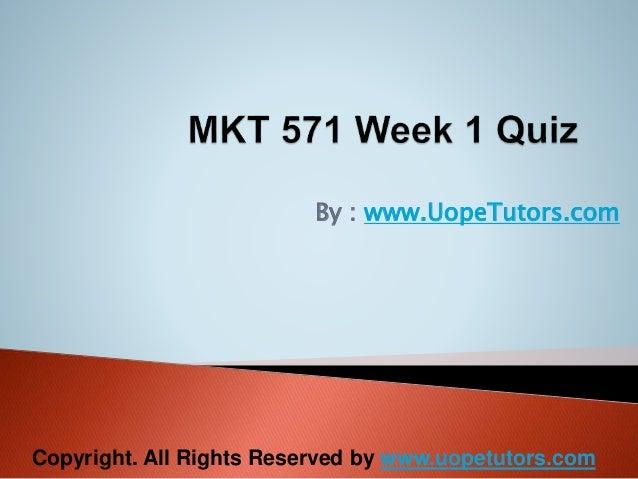 mkt 571 week 1