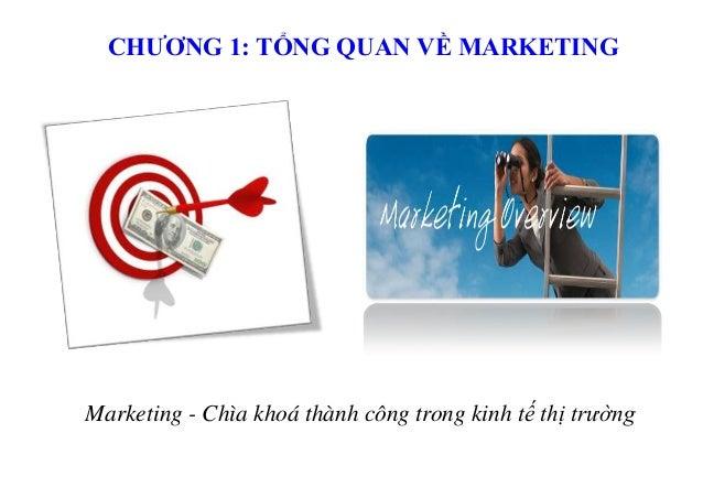 CHƯƠNG 1: TỔNG QUAN VỀ MARKETING  Marketing - Chìa khoá thành công trong kinh tế thị trường