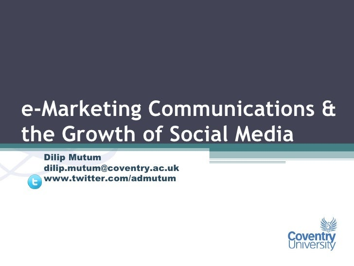 emarketing communications and social media