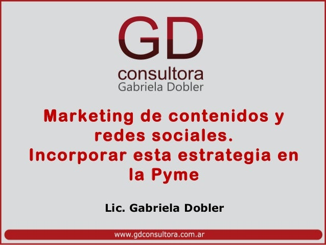 Material Desayuno de Trabajo sobre Marketing de contenidos en la PYME