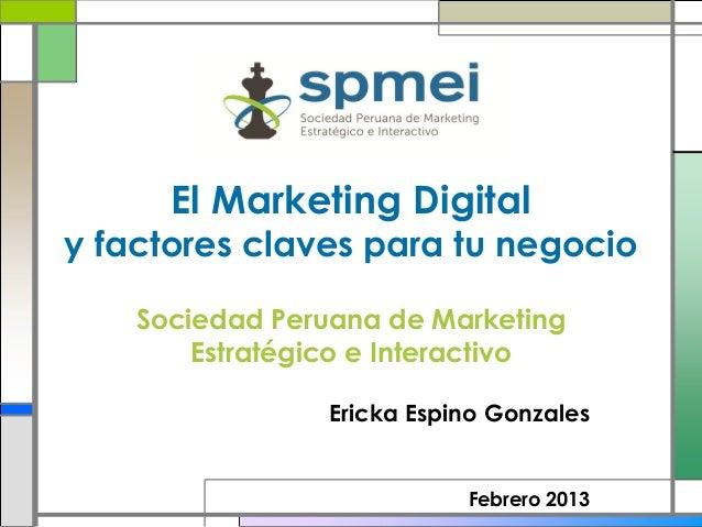 Marketing digital y factores claves para tu negocio
