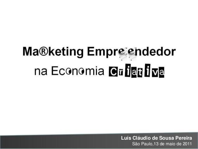 Marketing Empreendedor na Economia Criativa