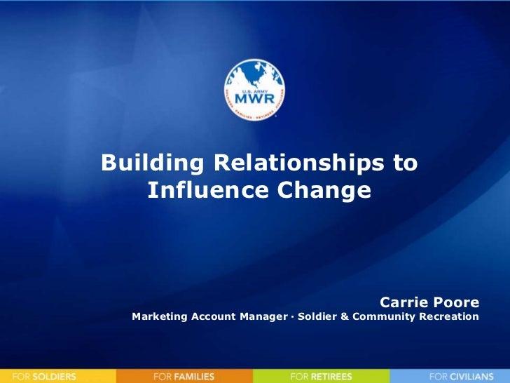 Mktg building relationships to influence change
