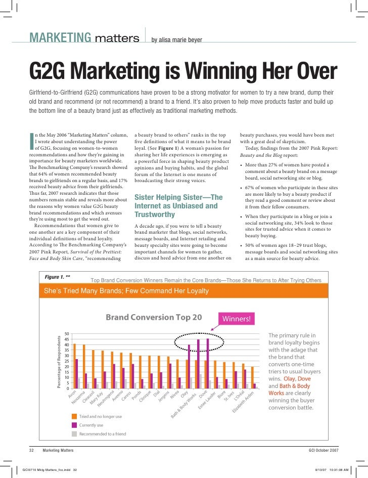 MARKETING matters                                          by alisa marie beyerG2G Marketing is Winning Her OverGirlfriend...