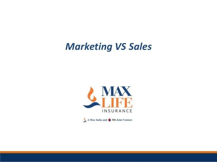 Mktg vs Selling