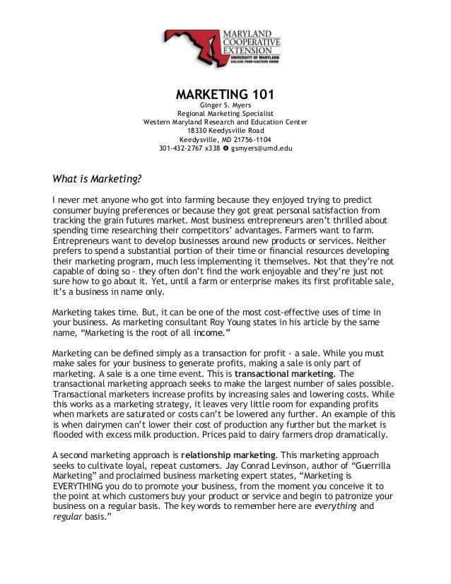 Marketing 101 Tactics