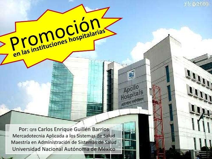 Promoción en las instituciones hospitalarias