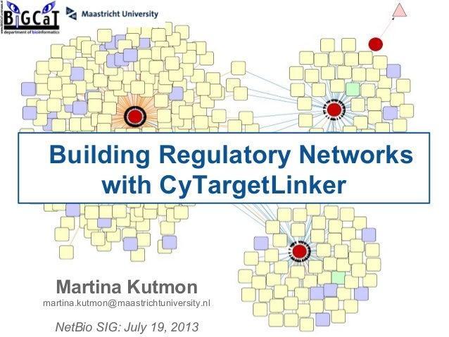 Building Regulatory Networks with CyTargetLinker Martina Kutmon martina.kutmon@maastrichtuniversity.nl NetBio SIG: July 19...