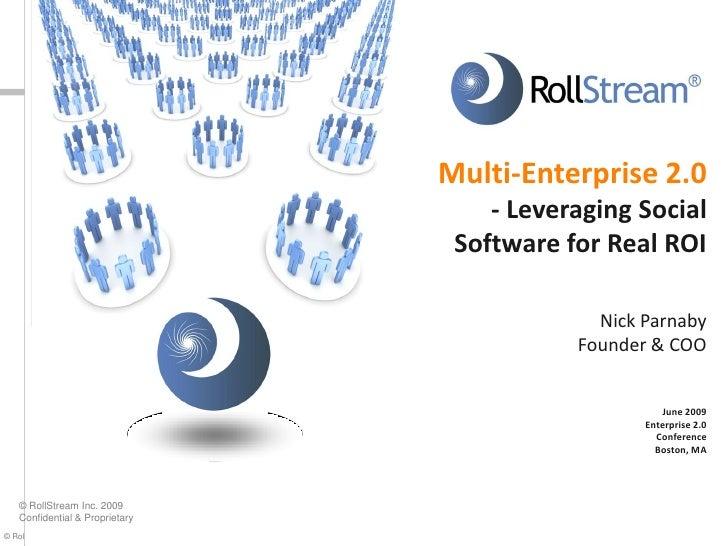 Multi-Enterprise 2.0 - Leveraging Social Software for Real ROI