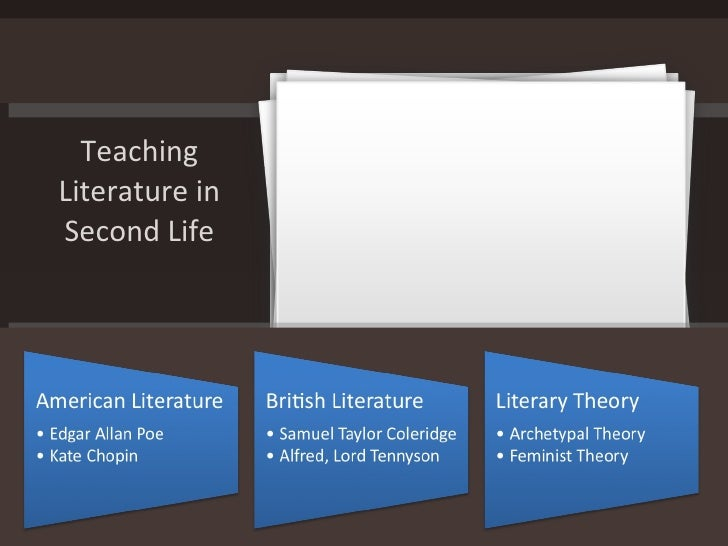 Teaching Literature in Second Life