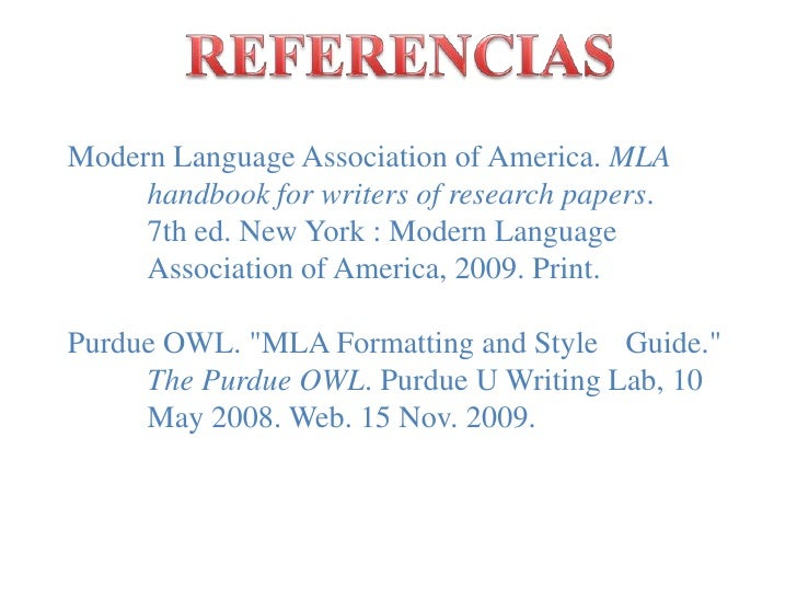 modern language association handbook for writers of research papers