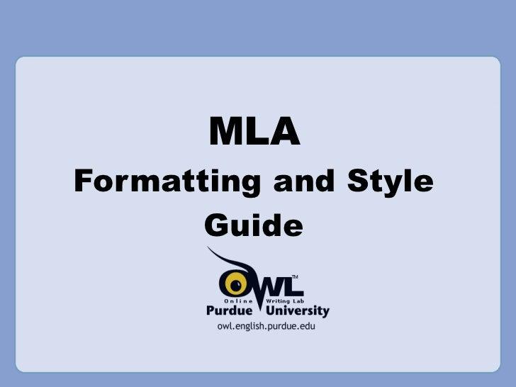 MLA Info