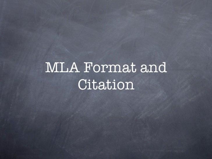 MLA Format and MLA Citations