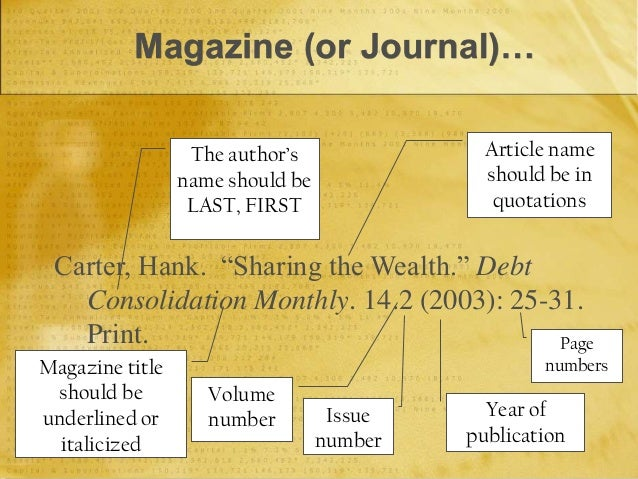 DO YOU ITALICIZE A NAME OF A MAGAZINE IN A STANDARD M.L.A FORMAT ESSAY?