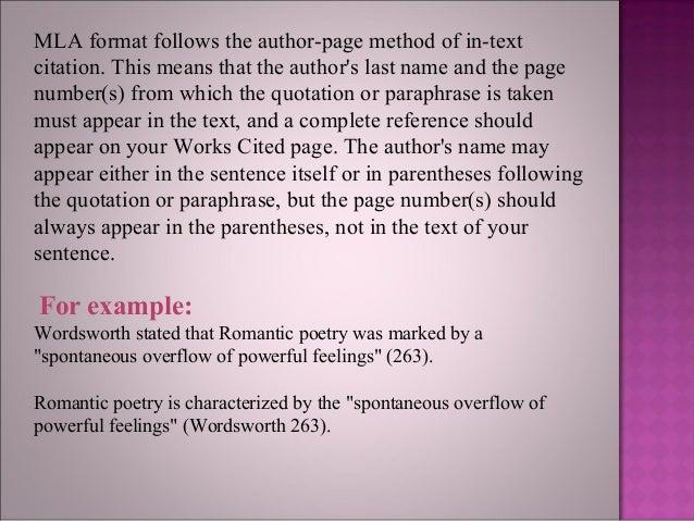 mla formatting for an essay