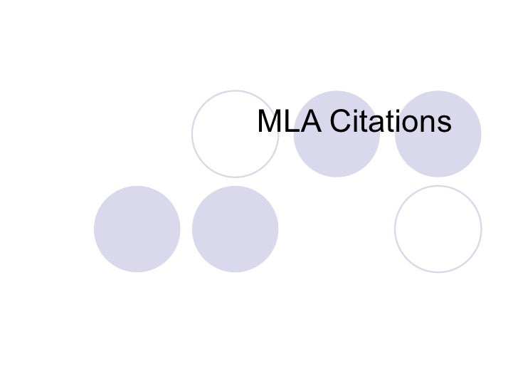 MLA Book Citations Only