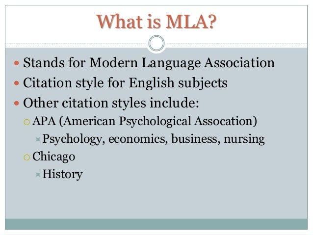 Question on MLA citations?