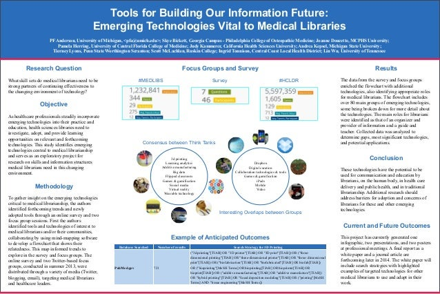 Poster: #MLANET14 Tools for Building Our Information Future: Emerging Technologies Vital to Medical Libraries