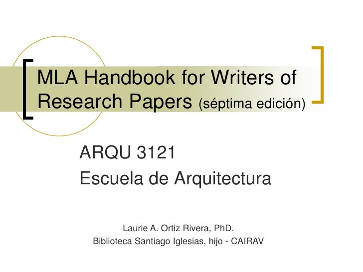mla handbook for writers of research papers read online