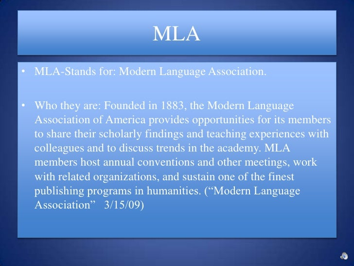 Where can I study about the MLA and APA formats?