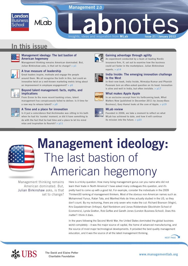 Mlab labnotes-021 American management