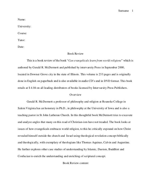 book review sample essay – Book Report Template for High School