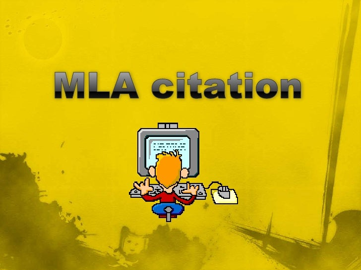 MLA citation<br />