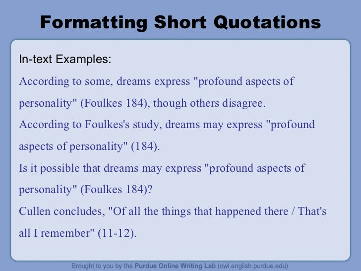 Essay format with quotes