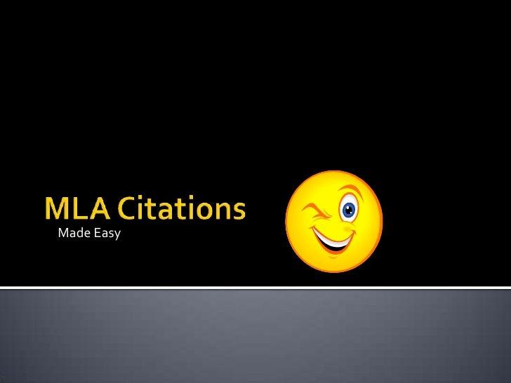 MLA Citations<br />Made Easy<br />