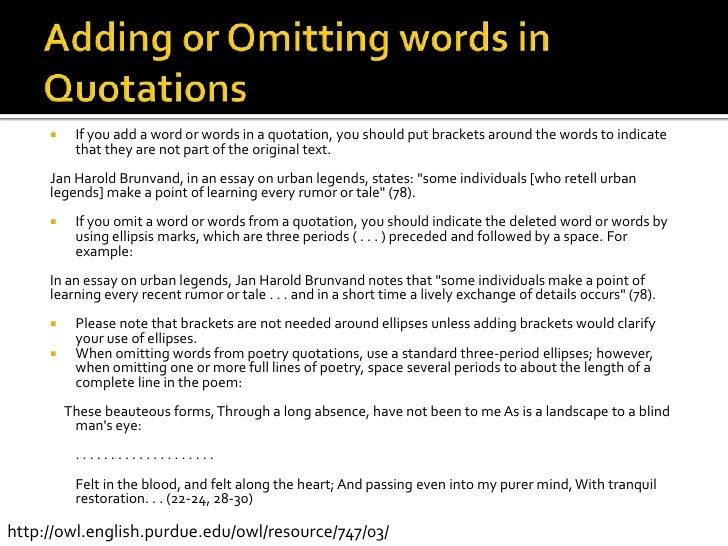 using quotations in an academic essay Here are five guidelines for using quotation marks correctly in american english  first using single quotation marks—or 'inverted commas'—and then turning to double quotation marks to enclose quotations within quotations  the first draft of my favorite e b white essay, once more to the lake, was a letter that white wrote to his.