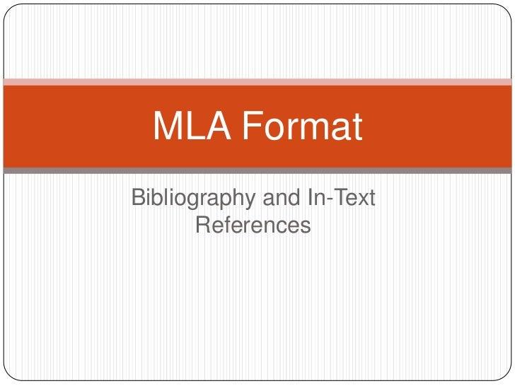 MLA Format